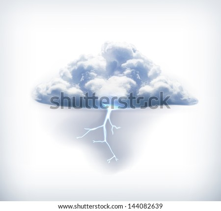Lightning vector icon - stock vector