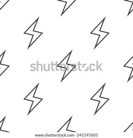 lightning, vector seamless pattern, Editable can be used for web page backgrounds, pattern fills  - stock vector