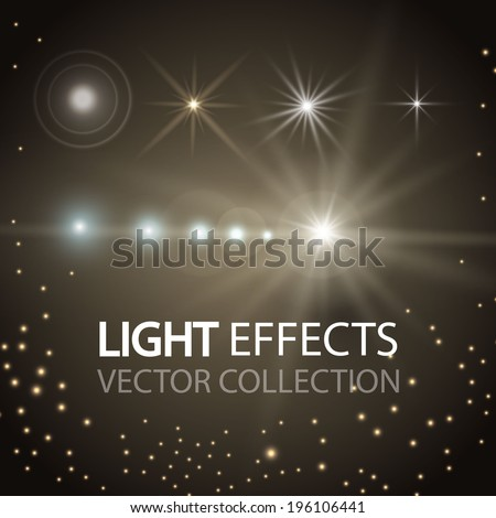Lights effect collection. Vector illustration - stock vector