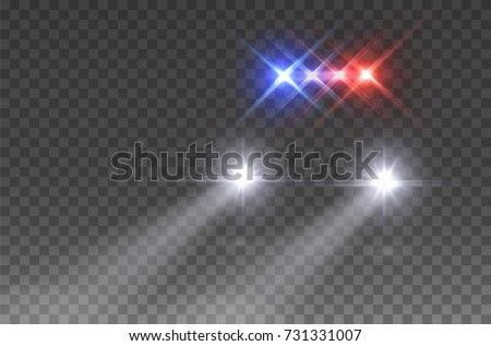 Lights Flares Siren Effect Front View Stock Vector (Royalty Free) 731331007    Shutterstock