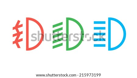 Lights icons - stock vector