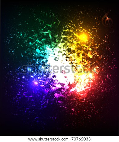lights musical background - stock vector