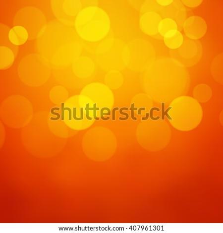 Lights on orange background - Vector - stock vector
