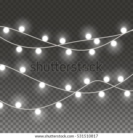 String Lights Clipart No Background : Lights String Bulbs Isolated On Transparent Stock Vector 531510817 - Shutterstock