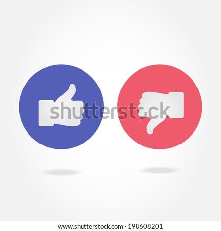 Like and dislike symbol. - stock vector