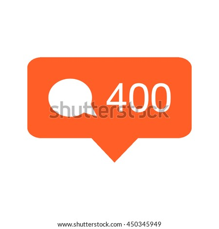 Like, comment and follower icons. Social media buttons on white background. Notification icons. Isolated vector illustration. - stock vector
