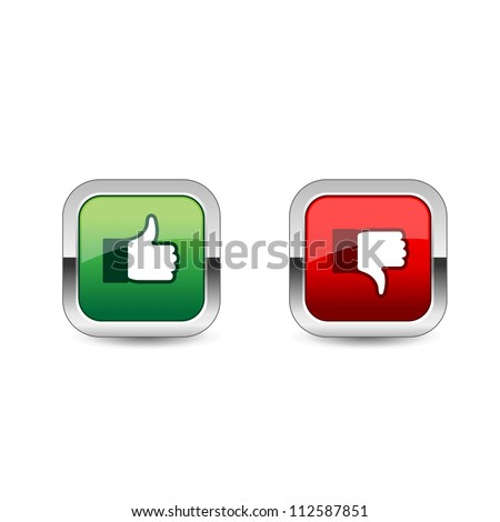Like Dislike Icon - stock vector