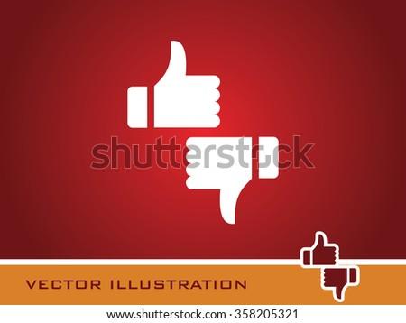Like & Dislike Icon. Eps-10. - stock vector