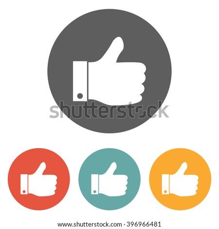 like icon , thumb up icon , thumb icon - stock vector