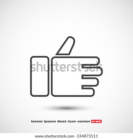 Like icon . Vector  Eps 10  - stock vector