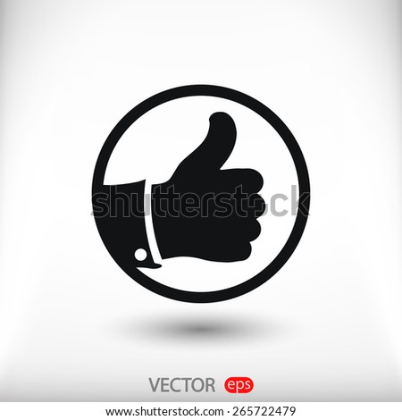 LIKE icon , vector illustration. Flat design style