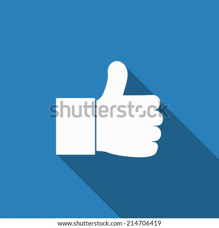 like icon with long shadow - stock vector