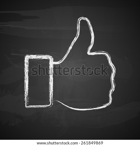 Like symbol. Vector illustration. - stock vector