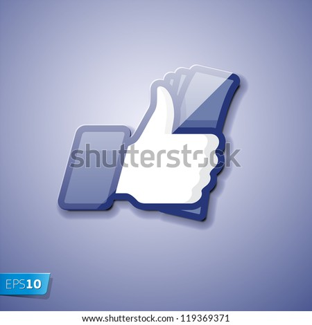 Like/Thumbs Up icon with cash, vector Eps10 illustration - stock vector