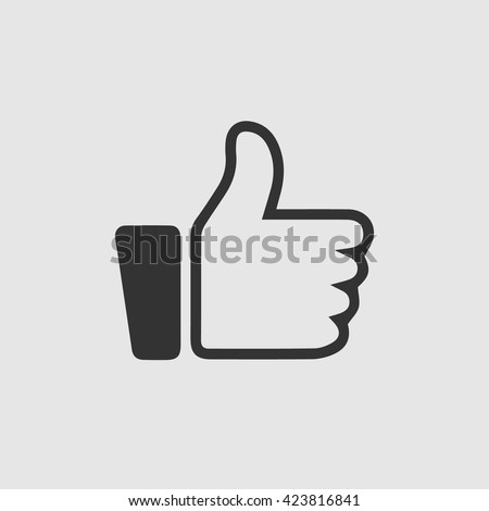 Like vector icon. Thumb up simple isolated symbol. Thumb up icon. Thumb up vector. Thumb up illustration. Thumb up vector icon. Like symbol icon. Like icon. Like symbol vector. Like vector. Like eps. - stock vector