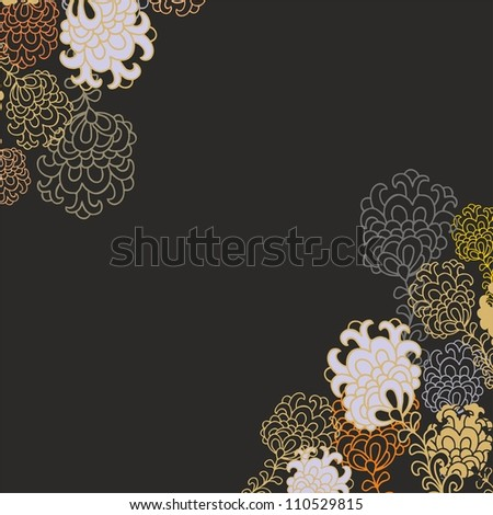 lilac floral seamless pattern - stock vector