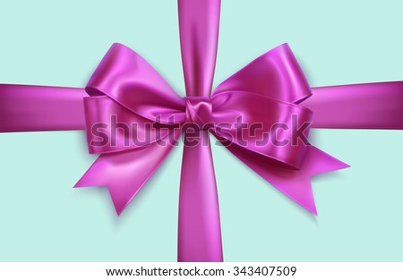 lilac realistic vector double cross gift bow