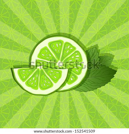 lime and mint background - vector illustration