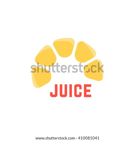 lime juice simple logo. concept of freshness badge, peel, delicious, yummy, agriculture, bar, premium, sap, crush. flat style trend modern brand design vector illustration on white background - stock vector