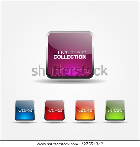 Limited Collection Colorful Vector Icon Design