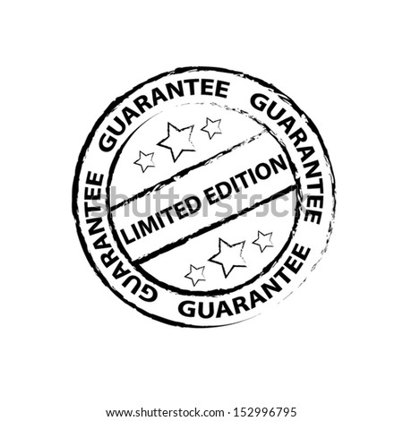 Limited Edition Rubber Stamp with Grunge (Sticker, Tag, Icon, Symbol)  - stock vector