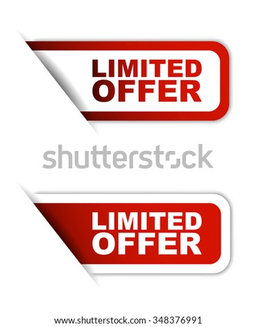 limited offer,red vector limited offer, red sticker limited offer, element limited offer, sign limited offer, design limited offer, picture limited offer, illustration limited offer, limited offer eps - stock vector
