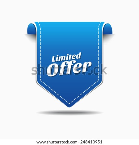 Limited Time Offer Blue Vector Icon Design