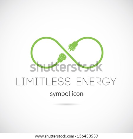 Limitless energy vector symbol icon or logo - stock vector