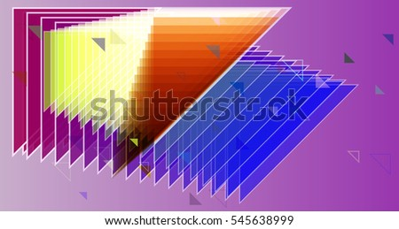 line and gradation with trendy triangles