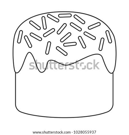 Line Art Black White Traditional Easter Stock Vector 1028055937 ...