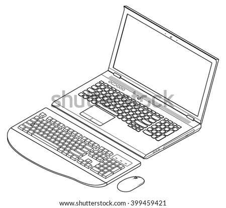 lineart detailed isometric drawing mainstream business
