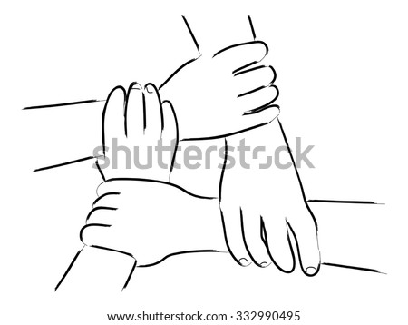 Four Hands Holding Each Other Stock Images, Royalty-Free ...Drawings Of Hands Holding Each Other
