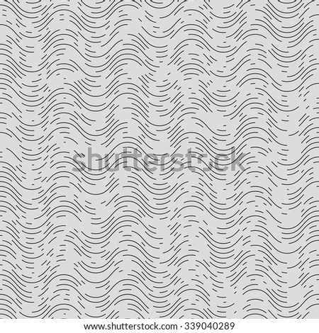Line art vector background seamless, noise wave pattern
