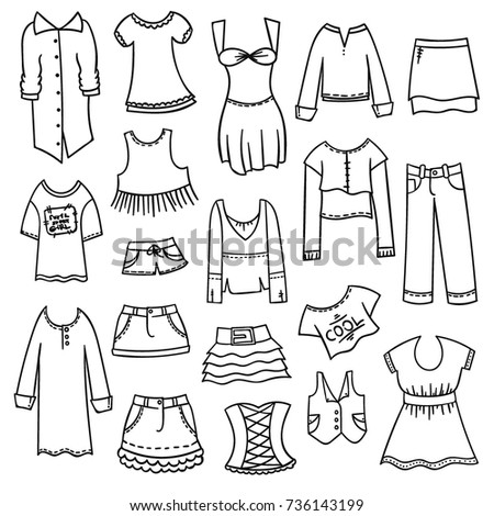 coloring pages with clothes - photo#25