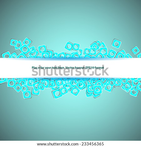 line banner for your text on blue background - stock vector