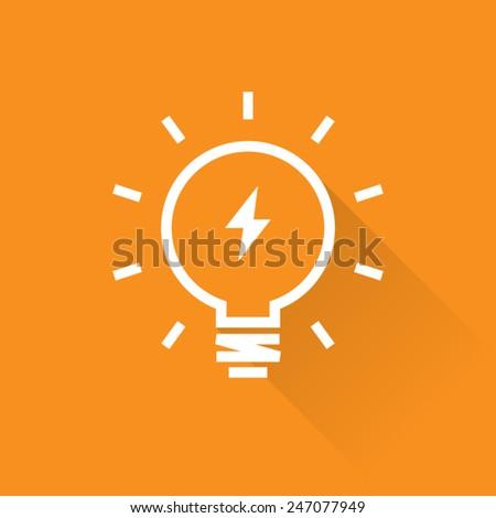 Line Bright Light Bulb Icon - stock vector