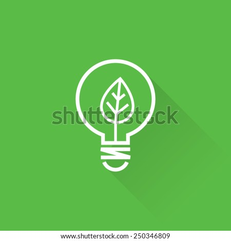 Line Clean Energy Concept Icon - stock vector