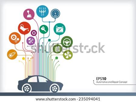 Line concept - Vectors Automotive - stock vector