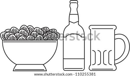 Beer Bottles Drawing a Beer Bottle Beer Mug