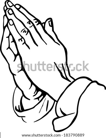 line drawing of praying hands - Jesus Praying Hands Coloring Page