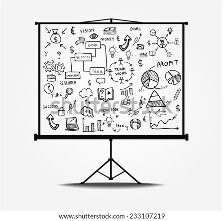 line drawing success plan . Vector illustration - stock vector