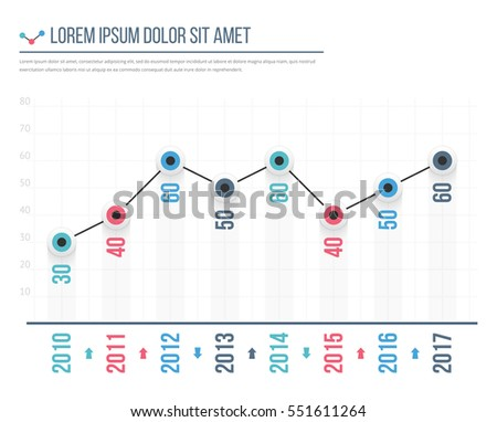Line graph template business infographics vector stock vector line graph template business infographics vector eps10 illustration pronofoot35fo Image collections