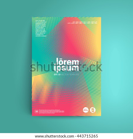 Line halftone cover design. Applicable for covers, placards, posters, flyers and banner design. Eps10 vector templates. - stock vector