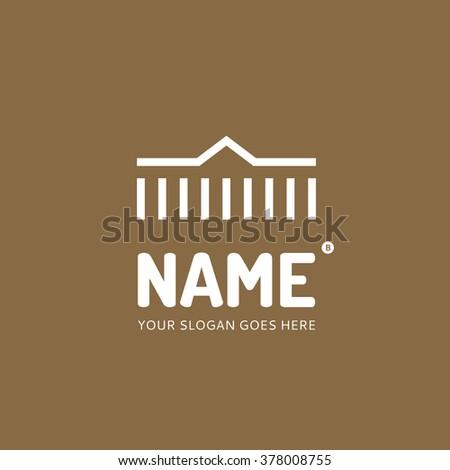 Line house, logo design vector template. Symbol concept icon. - stock vector