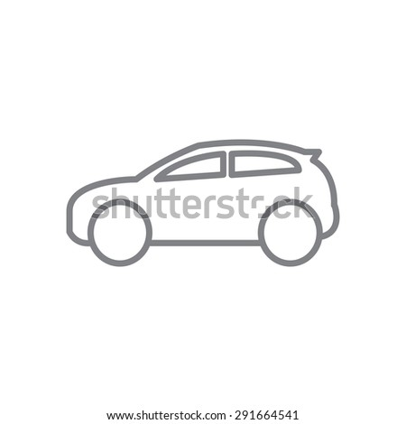 line icon car - stock vector