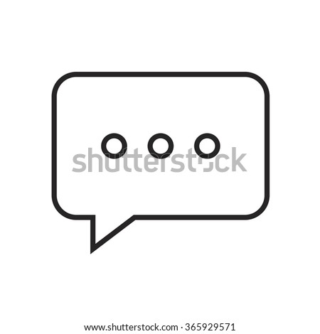Line icon chat. Web icon communication. - stock vector