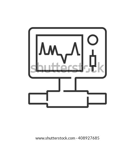 ecg machine stock images royalty images vectors shutterstock line icon medical device icon health care portable monitor