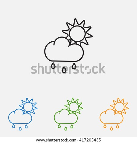 Line icon- weather