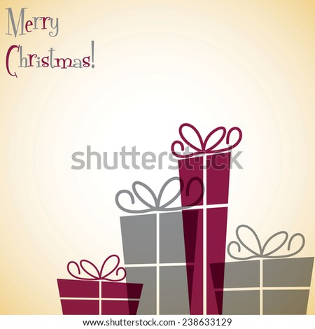 Line of Christmas presents in vector format. - stock vector