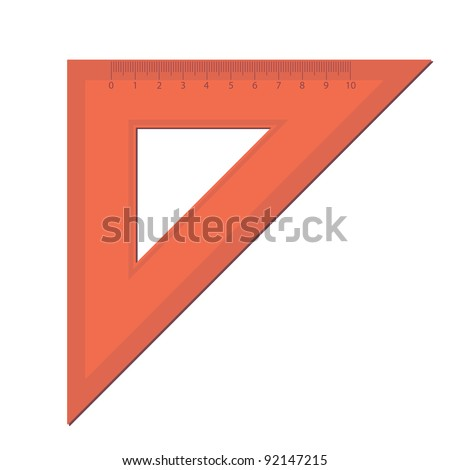 line of the triangle on a white background. - stock vector